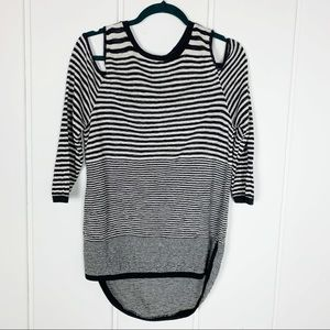 Maurice's Cold Shoulder Striped Knit Tunic Top